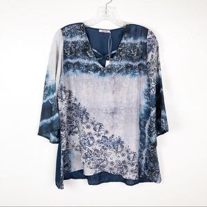 Johnny Was 100% Silk Floral Osiana Top S